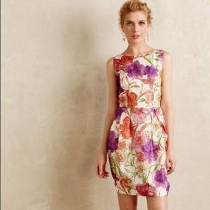 Jill Stuart Silk Organza Floral Print Dress Size 6